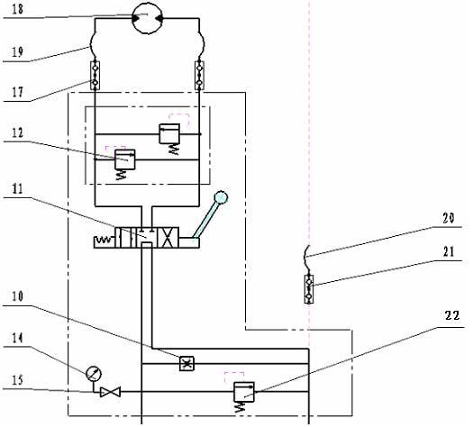 hjc-70l液压钢绳绞车-液压原理图